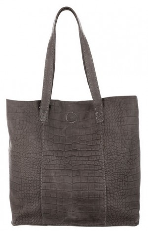 Chabo Shopper croco Elephant Grey